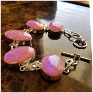 """Jewelry - Pink Australian Triplet Opal Bracelet 8.40"""""""